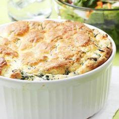 Spinach & Feta Soufflé Recipe