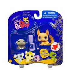 Littlest Pet Shop Cuddliest Pet Pairs Portable Collectible Gift Set - Hamster (#980) and Chinchilla (#1102) Plus Water Bottle