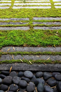 green paving.