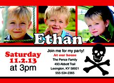 Our Pirate Personalized Photo Cards features your favorite photos on this pirate themed photo card for your youngsters #PirateParty!