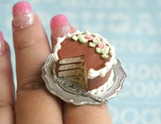 birthday cake ring - how fun for a girly birthday get together!
