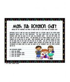 Math Tub Rotation Chart