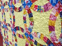 The BEST double wedding ring quilt tutorial EVER!!!!!!! step by step instructions with pictures :)