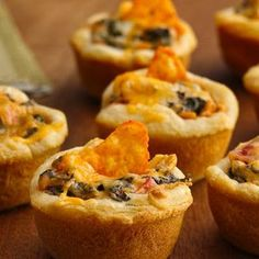 Mexican Appetizer Cups - use biscuit dough