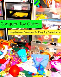 Tips for organizing children's toys so they can clean up by themselves