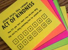 Girl's Camp Service Project Idea: Service Pass-along Cards