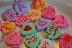 Design Your Own Conversation Hearts with an Edibile Ink Pen via @ClassyMommy