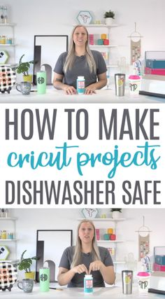 If you want to make Cricut  projects dishwasher safe, you've got to check out this post to learn  the secret! We love knowing that no matter what you create, you can seal  it and make it dishwasher safe. #cricut  #diecutting #diecuttingmachine #cricutmachine #cricutmaker #diycricut  #diycricutprojects #cricutideas #cutfiles #svgfiles #diecutfiles #cricutideas  #diycricutprojects #cricutprojects #cricutcraftideas #diycricutideas