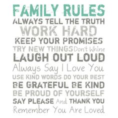 I pinned this Family Rules Canvas Art from the Seeing Green event at Joss and Main!