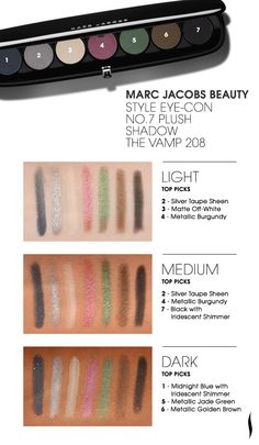 See it Swatched: Marc Jacobs Beauty Style Eye-Con No. 7 Plush Shadow in The Vamp  #eyeshadow #makeup #swatches #MarcJacobs #Sephora