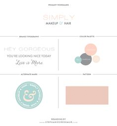 Brand board for Simply Makeup & Hair