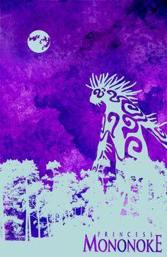 Princess Mononoke Poster by David Ryan Andersson, via Flickr