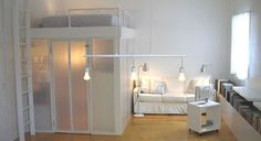 small apartments, beds, studio apartments, loft, small rooms