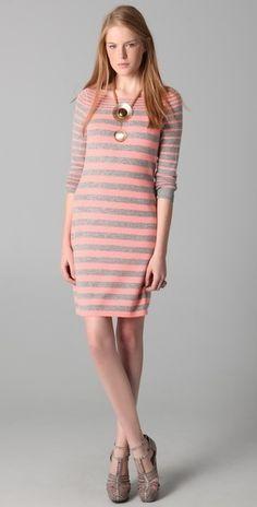 Rebecca Taylor Striped Knit Dress - StyleSays