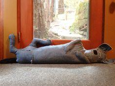 Draft-dodging Hyena by Gregory Hayes - via Make craft blog