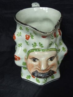 Bacchus PEARLWARE Staffordshire Toby Jug