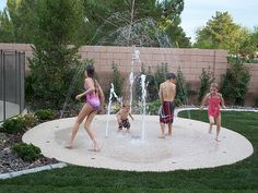 A splash pad! Simple, safer than a pool, and looks like it'd be lots of fun. I do still love actual swimming, so maybe I could have this and a pool...ahem...for the kids, of course.  :)