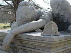 Crying Angel at the #Natchez City #Cemetery. www.visitnatchez.org