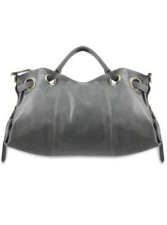 """Nadine"" gray grommet bag from Melie Bianco."