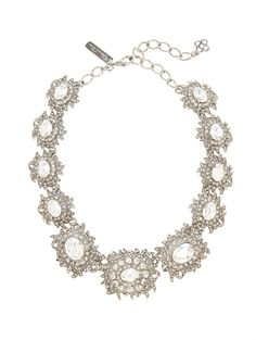 Shop now: Oscar de la Renta Light Antique Silver Necklace