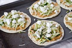 Ancho Chili Hummus Quesadillas with Zucchini & Goat Cheese   I effing loooovvvee goat cheese!