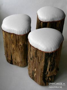 outdoor seating, fire pits, cabin, chair, tree stumps, outdoor fabric, trees, log, stools