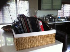 Baking trays organized! Can be used for chopping boards too!