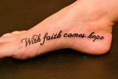 Faith and Hope Tattoo