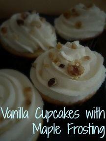 Vanilla Cupcakes with Maple Frosting vanilla cupcakes, cupcak busi