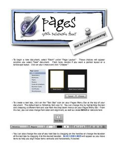 """A little """"cheat-sheet"""" for Apple's PAGES program."""