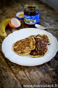 Pancakes rapides à la banane (avec des oeufs, de la banane et puis c'est tout!)
