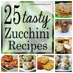 25 tasty zucchini recipes. Lots of great ways to use up all that zucchini!