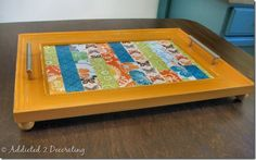 Turn a frame into a serving tray- great gift!