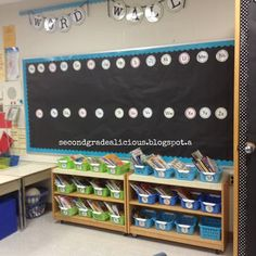Word wall with black paper