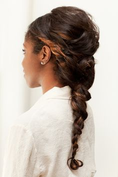 Tutorial: Romantic twisted braid / chignon. #wedding http://www.refinery29.com/wedding-hairstyle-tutorials/slideshow?page=22#slide-22