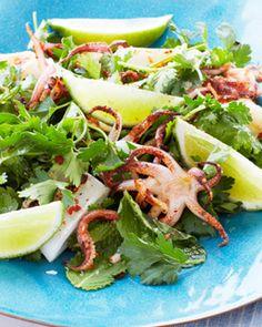 Sweet Paul's Spicy Grilled Calamari