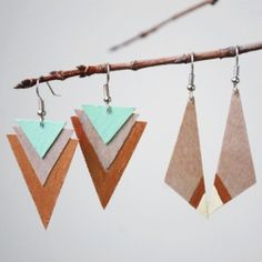 A quick and easy DIY to make these earrings out of birch plywood.