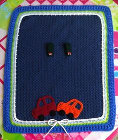 Cute free crochet blanket for carseat cover