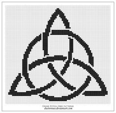 Free cross stitch pattern -  triquetra by ~dustnroses on deviantART