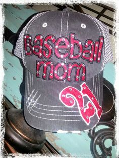 """Personalized w/ Kid's Jersey #.  """"Baseball Mom""""  by RebelChickDesigns on Etsy, $36.00"""