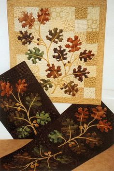 """This is a good idea for using those 5"""" squares and adding some appliqué to make it more interesting"""
