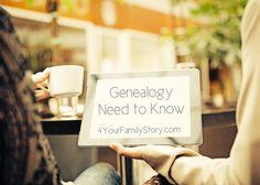 10 #Genealogy Things You Need to Know Today, Wednesday, 11 Jun 2014, via 4YourFamilyStory.com. #needtoknow #familytree