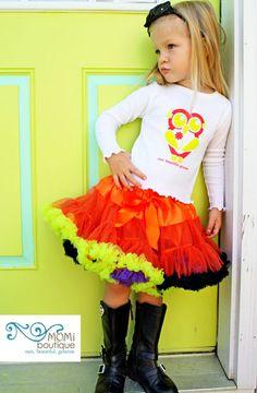 Fall Festival twirl pageant pettiskirt