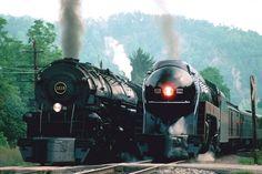 Trenes y locomotoras  (enormes caballos de hierro)