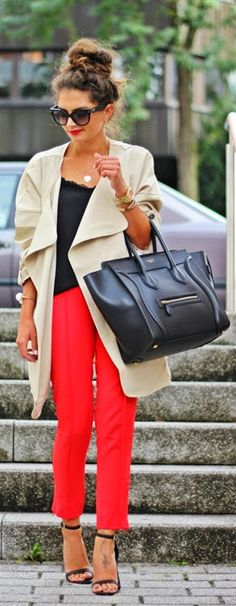 Daily New Fashion : going out with a trench