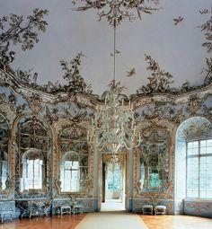 Hall of Mirros in Amalienburg - hunting lodge in Munich
