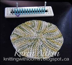 Knitting With Looms: Hexigon Dishcloth