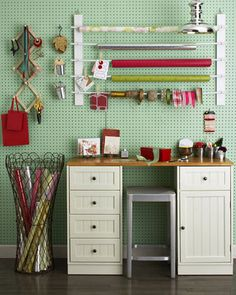 pegboard for craft room