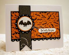 Stampin' Up! Halloween card bats