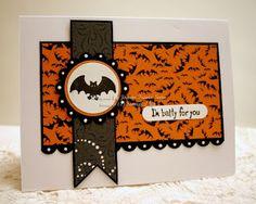 card idea, halloween idea, halloween cards, color, card bat